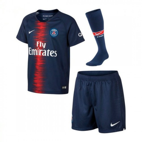 b23044f91341e Comprar Conjunto Nike Paris Saint-Germain Equipamento Principal 2018-2019  Crianças Midnight navy-Branco barato