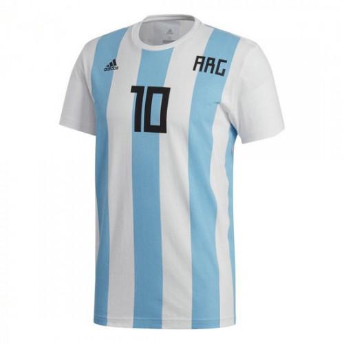 Original Camisola adidas Messi Argentina 2017-2018 Branco ad35b6b5cf177