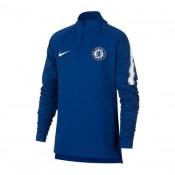 6201793154 Sweatshirt Nike Chelsea FC Dry Squad 2018-2019 Crianças Rush Azul-Branco  shop online