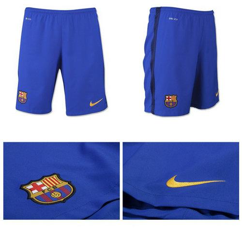 276320e2af Barcelona 2015 2016 Away Futebol Curto - Calções De Futebol replicas