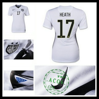 Camisa Futebol Estados Unidos (17 Heath) 2015-2016 I Feminina