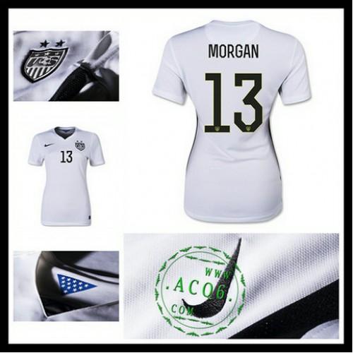 Camisas Futebol Estados Unidos (13 Morgan) 2015 2016 I Feminina ... a02d26c0abdf6