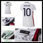 Uniforme Futebol (10 Zidane) França Autêntico Ii Euro 2016 Feminina