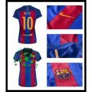 Comprar Uniformes Futebol Messi Barcelona Feminina 2016 2017 I Loja On-Line