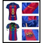 Compra De Uniforme De Futebol A. Iniesta Barcelona Feminina 2016-2017 I Loja On-Line