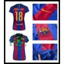 Criação Uniformes Futebol Jordi Alba Barcelona Feminina 2016/2017 I Loja On-Line