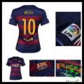 Camisas Futebol Barcelona (10 Messi) 2015-2016 I Feminina