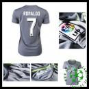 Camisa De Futebol Real Madrid (7 Ronaldo) 2015/2016 Ii Feminina