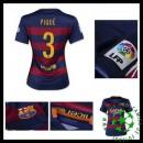 Camisetas Barcelona (3 Pique) 2015 2016 I Feminina