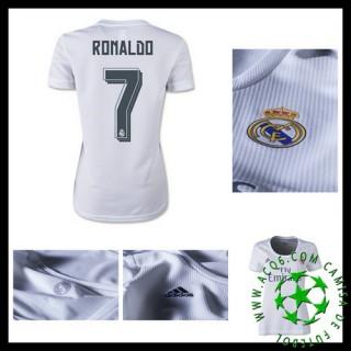 Camisa Futebol Real Madrid (7 Ronaldo) 2015 2016 I Feminina