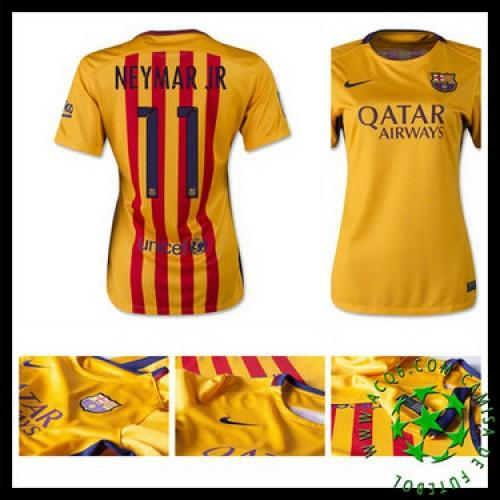 426c900efc Camisa Futebol Barcelona (11 Neymar Jr) 2015 2016 Ii Feminina ...
