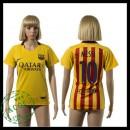 Barcelona Uniforme Futebol Messi 2015 2016 Ii Feminina
