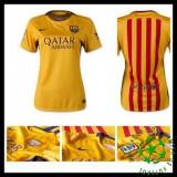 Uniforme Futebol Barcelona 2015 2016 Ii Feminina