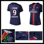 Uniforme De Futebol Paris Saint Germain Cavani 2015 2016 I Feminina