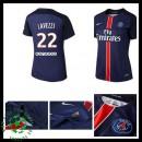 Camisas De Futebol Paris Saint Germain Lavezzi 2015/2016 I Feminina