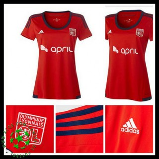 Camisas De Futebol Olympique Lyonnais 2015 2016 Ii Feminina