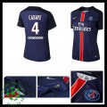 Camisa Futebol Paris Saint Germain Cabaye 2015 2016 I Feminina