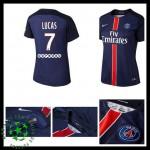 Camisa Futebol Paris Saint Germain Lucas 2015-2016 I Feminina