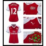 Uniforme De Futebol Arsenal Giroud 2016 2017 I Feminina