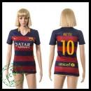 Barcelona Uniformes Futebol Messi 2015-2016 I Feminina