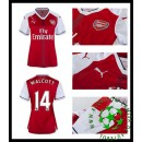 Uniforme Futebol Arsenal Walcott 2016 2017 I Feminina