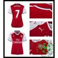 Camisas De Futebol Arsenal Alexis 2016 2017 I Feminina