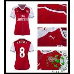 Uniformes De Futebol Arsenal Ramsey 2016 2017 I Feminina