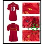 Camisas De Futebol Liverpool Coutinho 2016/2017 I Feminina