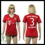 Bayern München Camisa Du Futebol Alonso 2015-2016 I Feminina