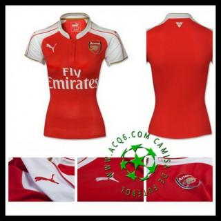 Camisas De Futebol Arsenal 2015 2016 I Feminina