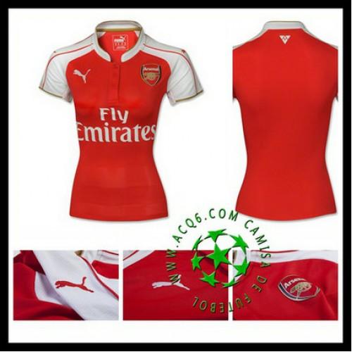 Camisas De Futebol Arsenal 2015 2016 I Feminina - camisolas de ... cf0834f2c52ff