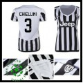 Uniformes Futebol Juventus (3 Chiellini) 2015-2016 I Feminina