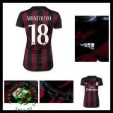 Camisa Futebol Ac Milan (18 Montolivo) 2015 2016 I Feminina