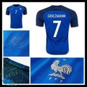 Camisa De Futebol França Griezmann Euro 2016/2017 I Masculina