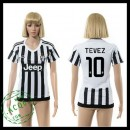 Juventus Camisa De Futebol Tevez 2015-2016 I Feminina