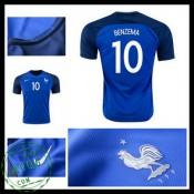 Camisas De Futebol França Benzema Euro 2016/2017 I Masculina