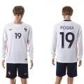 França Camisas De Futebol Pogba Manga Longa 2015-2016 Ii Masculina