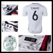 Camisa (6 Cabaye) França Autêntico Ii Euro 2016 Masculina