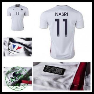 Camisa De Futebol (11 Nasri) França Autêntico Ii Euro 2016 Masculina