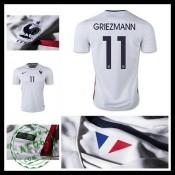 Camisa Futebol (11 Griezmann) França Autêntico Ii Euro 2016 Masculina