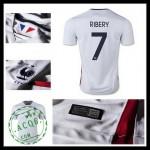Camisas Du Futebol (7 Ribery) França Autêntico Ii Euro 2016 Masculina
