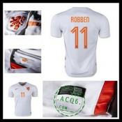 Camisas Du Futebol Holanda (11 Robben) 2015-2016 Ii Masculina