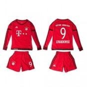 Bayern München Camisetas Lewandowski Manga Longa 2015/2016 I Infantil