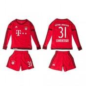 Bayern München Camisas De Futebol Schweinsteiger Manga Longa 2015 2016 I Infantil