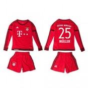 Bayern München Camisa Du Futebol Muller Manga Longa 2015-2016 I Infantil b2707aed4dde5
