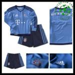 Uniformes Futebol Bayern München Goleiro 2015-2016 I Infantil