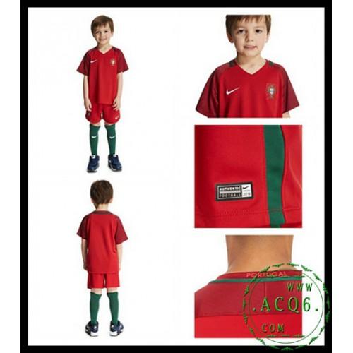 A Partir De Venda Camisas De Futebol Portugal Infantil Euro 2016 2017 I Loja  On-Line fb8e321e5a89d