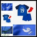 Uniforme De Futebol França Pogba Euro 2016/2017 I Infantil