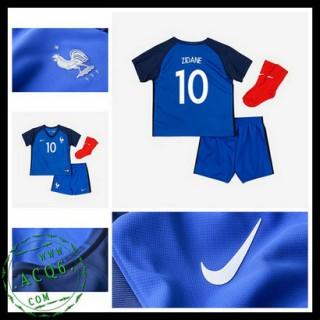 Camisa Futebol França Zidane Euro 2016/2017 I Infantil