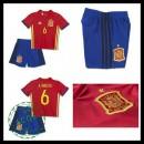 Camisa (6 A.Iniesta) Espanha Autêntico I Euro 2016 Infantil
